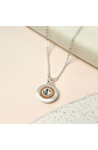 silver_plated_disc_rosegold_bead_necklace